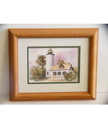 Lighthouse Watercolor Print (5 x7) by Karlyn Holman Framed  - $6.99
