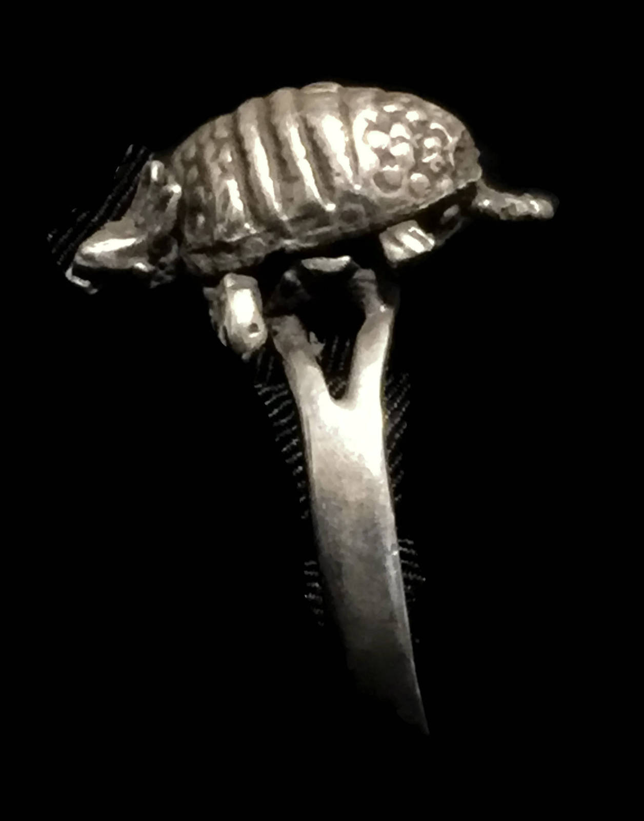 Vintage Armadillo Sterling Silver Ring Size 8.25   Legs & Head Moves