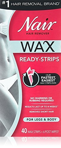 Nair Hair Remover Wax Ready-Strips 40 Count Legs/Body 2 Pack