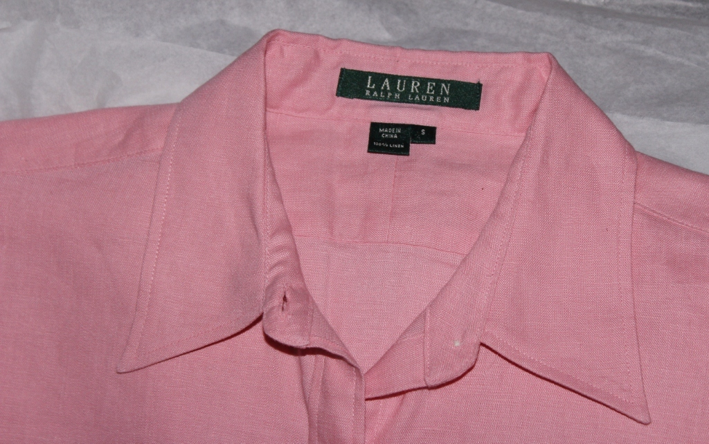 Ralph Lauren Ladies Linen Blouse Size Small NEW