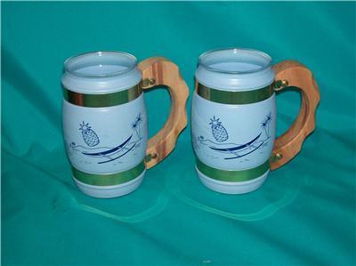 Vintage Pastel 2 Siesta Ware Bar Ware Hawaiian Tiki Mug
