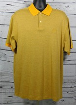 Chaps Ralph Lauren Men's Golf S/S Polo Shirt-Stay Dry Gold/Gray Size: L
