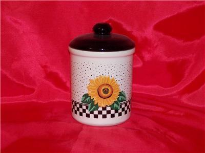 "TABLETOPS UNLIMITED 4"" SUNFLOWER TEA CANISTER"