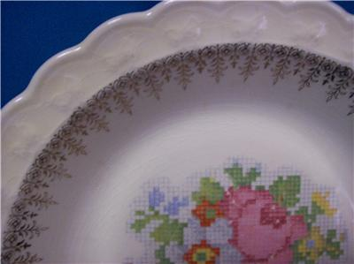 TAYLOR SMITH &T GOLD FILIGREE RIM, FLORAL CENTER TST433
