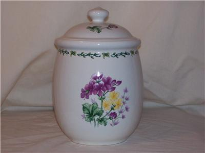 Thomson Pottery Floral Garden Medium Canister 7""