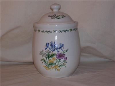 Thomson Pottery Floral Garden Small Canister 5""