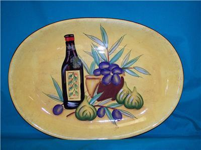 "AntiPasto 18"" Platter Housewares International China"
