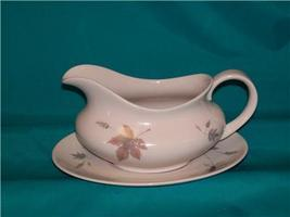 ROYAL DOULTON TUMBLING LEAVES GRAVY BOAT AND UNDERPLATE - $30.00