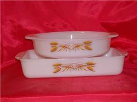 Fire King Wheat Utility & Casserole Dish Discontinued In 1966  - $50.00
