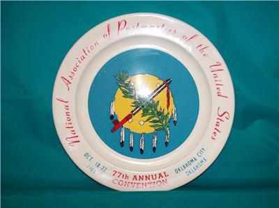 Anchor Hocking 1981 Postmaster 77TH Convention Plate Oklahoma