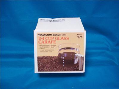 Hamilton Beach Glass Carafe Model 171 New In The Box