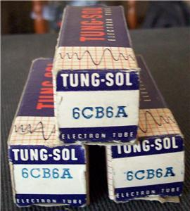 VINTAGE TUNG-SOL (3) 6CB6A TUBES TESTED