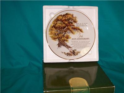 Avon 5th Anniversary The Great Oak Plate New In Box