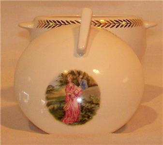Limoges Triumph Garden Wall Sugar Bowl 1T-S552 Very Nice