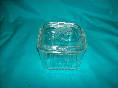 Federal Clear Refridgerator Dish Square With Vegetables