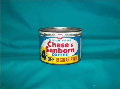 CHASE & SANBORN COFFEE TIN VINTAGE