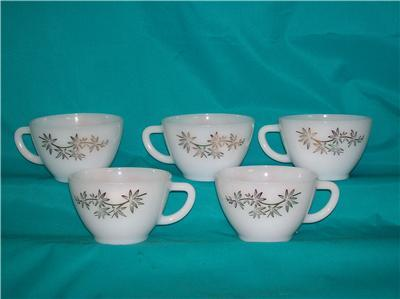 FEDERAL GLASS GOLDEN GLORY 5 CUPS 22K DESIGN