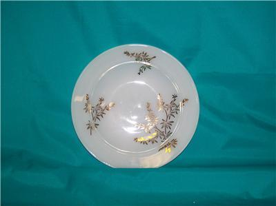 "FEDERAL GLASS GOLDEN GLORY SOUP BOWL 8"" 22K DESIGN"