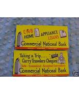 LOT 2 CNB Commercial National Bank Vintage Ink ... - $5.00
