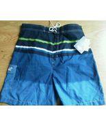 Men Caribbean Joe Board Shorts Size M Blue Swim... - $19.59