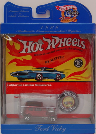 Hot Wheels 30 years AUTHENTIC COMMEMORATIVE  1969