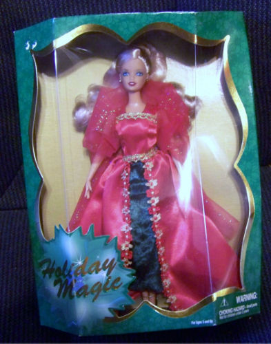 Primary image for Holiday Magic 2001 by Janks Pacific  Doll MIB Red Dress  Blonde