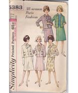 Vintage 60's Pattern Paris Fashion 4 Season Suit Simplicity 5383 12 Jack... - $9.99