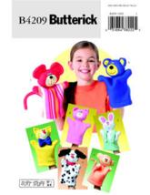 """Butterick B4209 Soft Stuff 8½"""" - 9"""" Animal Hand Puppets Pattern - $7.95"""