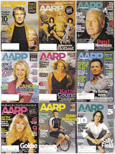 9)AARP-2005-2006-CELEBRITY ARTICLES/ MONEY/HEALTH/HINTS