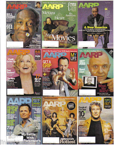 9)AARP-2004-2005-20006-CELEBRITY ARTICLES/ MONEY/HEALTH