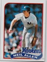 1989 Topps Baseball Card, #61, Neil Allen, New York Yankees - $0.99