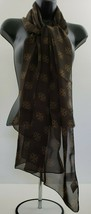Avon Mailyn Scarf with Gift Box New Representative Exclusive Brown Recta... - $10.12