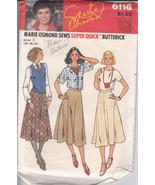 Vintage 70's Marie Osmond Sews Flared Skirt Pattern 28 30 32 Butterick 6116 - $8.68