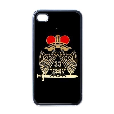 FREEMASON MASONIC DEGREE 33 SYMBOL HARD BACK CASE FOR APPLE iPHONE 4/4S