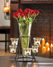 WEDDINGS!! 10 Black Metal Circular Candleholder with Vase Tabletop Cente... - $169.95