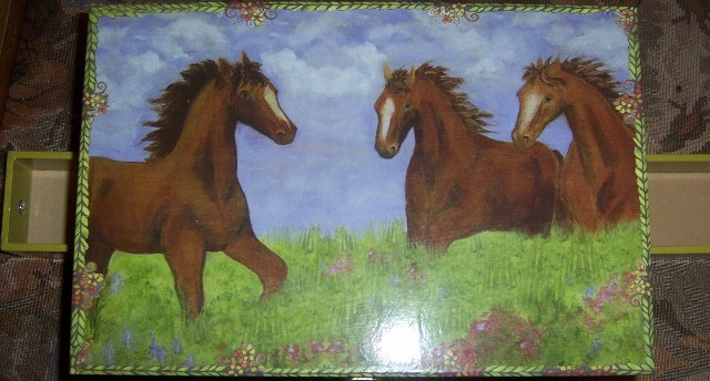Musical Horse Jewelry Box Pony Treasure Box NEW