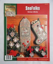 Snofolks Cross Stitch Pattern Leaflet StitchWorld Christmas Snowmen Stoc... - $5.95