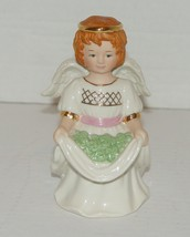 Lenox Shamrock Smiling Red Haired Irish Angel Figurine w/  Gold Accents  - $11.99