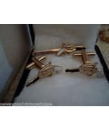 Pistols Guns Cufflinks Set with Matching Tie Clasp  - $18.50