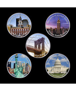 WR 5PCS Wonders of United States American Silver Coins Collection with C... - $23.75