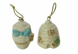 Walt Disney Christmas Ornament Winnie Pooh Figurine Lenox honey bee hive... - $23.17