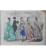 Godey's Fashion for 1869 Antique - $4.49