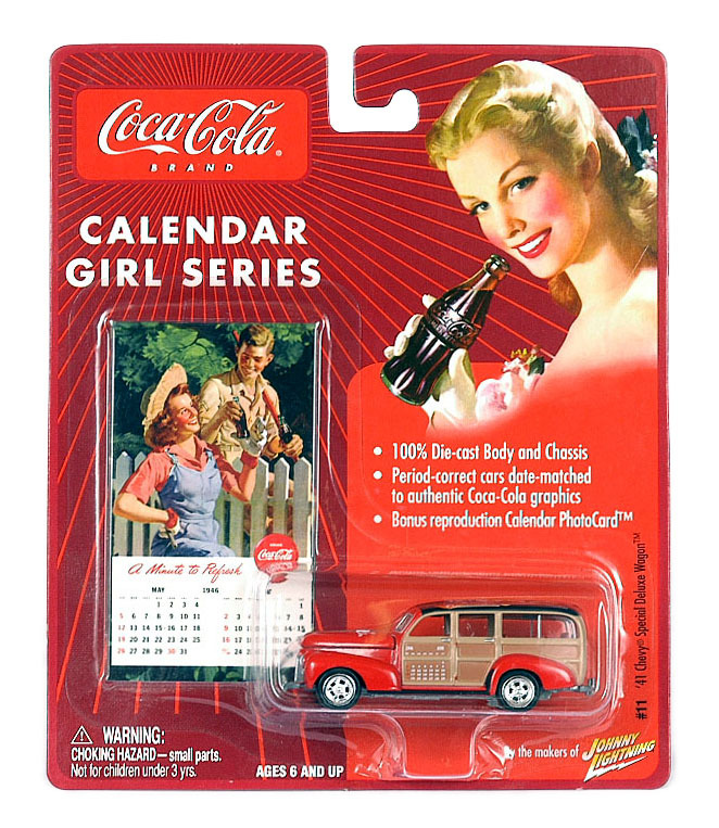 Johnny Lightning 30901/11 '41 Chevy Wagon Coca Cola