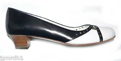 NEW FURLA Italy career shoes heels black 37 $395 pumps Bonanza