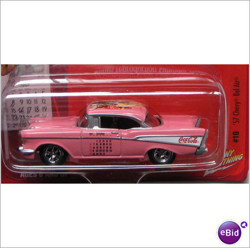 Johnny Lightning pink 1957 CHEVY BEL AIR Coca-Cola/Coke