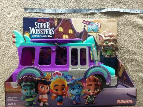 Netflix Playschool Super Monsters GrrBus Monster Bus Toy Lights Sounds & Music