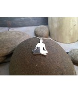 """Sterling Silver Meditation Pendant """"silhouetted"""" on 18"""" Sterling Silver ... - $87.00"""