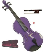 Crystalcello 1/8 Size Purple Violin with Case and Bow - $35.00