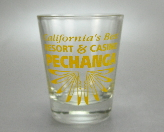 Pechanga California Resort Casino Clear Yellow Shot glass