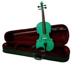 Crystalcello 1/4 Size Green Violin with Case and Bow - $35.00